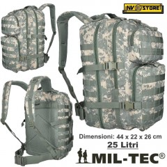 ZAINO TATTICO INCURSORE MIL-TEC MILTEC ASSAULT 25-30 LITRI AT-DIGITAL SOFTAIR