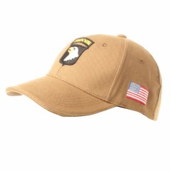 CAPPELLO BERRETTO AIRBORNE 101st **ORIGINALE 100%** US ARMY MILITARE SOFTAIR TAN