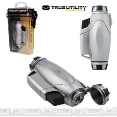 ACCENDINO TRUE UTILITY TURBOJET 00TU4070 FIREWIRE LIGHTER ANTIVENTO RICARICABILE