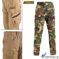 Pantaloni DEFCON 5 Panther Outdoor Tactical RIP-STOP Militare Softair Woodland