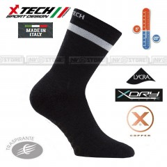 Calze Termiche XTECH Tecniche X-TECH SPORT XT120 Lana Thermo Socks Made in Italy