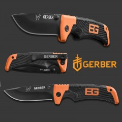 COLTELLO KNIFE GERBER BG BEAR GRYLLS SCOUT BLACK FOLDING SURVIVOR SOPRAVVIVENZA