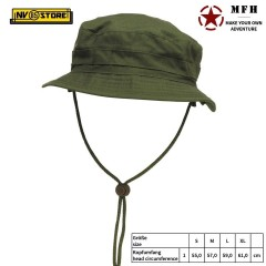 Boonie Hat GB Falda Corta MFH Cappello Militare Jungle Softair Caccia - Verde OD