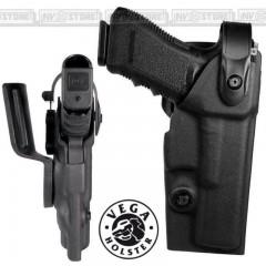 Fondina VEGA HOLSTER VKD8 Vegatek Duty in POLIMERO con Sicura per Glock 17 - 22