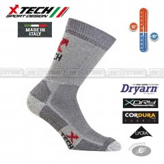 Calze Termiche XTECH Tecniche COMPRESSION X-TECH SPORT Made in Italy Socks Black