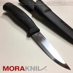 KNIFE COLTELLO MORA MORAKNIV COMPANION BLACK INOX CACCIA PESCA SURVIVOR SURVIVAL