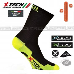 Calze XTECH Tecniche X-TECH SPORT Professional Carbon XDry Socks Made in Italy B