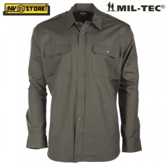 Camicia Field Shirt MIL-TEC MILTEC Combat Ripstop Caccia Outdoor Militare OD