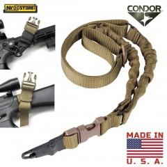 Cinghia per Fucile a 1 Punto Sling CONDOR Made in USA Regolabile Militare CY Tan