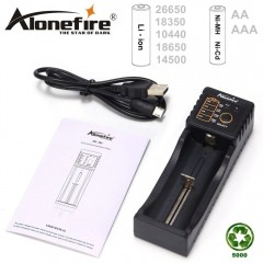 Caricabatterie ALONEFIRE MC101 Carica Batterie Litio Li-Ion 3.7 Ni-Mh Ni-Cd 1.2