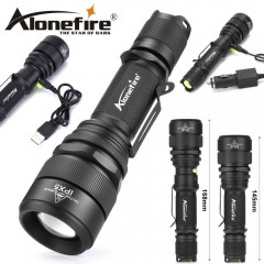 Torcia ALONEFIRE G910 con LED CREE XML T6 da 400 Lumens ZOOM Telescopico 150 mt