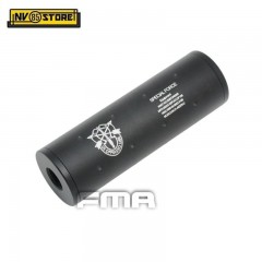 "Silenziatore per Fucile filettatura 14mm Logo ""SPECIAL FORCE"" FMA da 11 cm NERO"