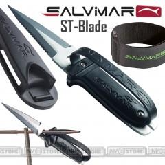 knife Coltello SUB SALVIMAR ST-Blade ACCIAIO INOSSIDABILE Con Federo e Cinghia
