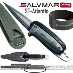 knife Coltello SUB SALVIMAR ST-Atlantis ACCIAIO INOSSIDABILE + Federo e Cinghia