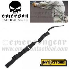 Correggiolo Elastico per Pistola EMERSON SLING Sgancio Rapido Portaccessori BK