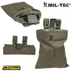 Porta Caricatori Esausti Richiudibile MILTEC MIL-TEC Tasca Utility Bag MOLLE OD