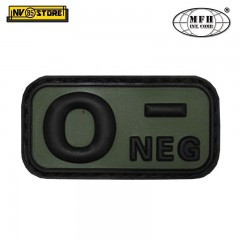 Patch in PVC 0- MFH Verde 5 x 2,5cm Militare Softair Soccorso con Velcrogrip
