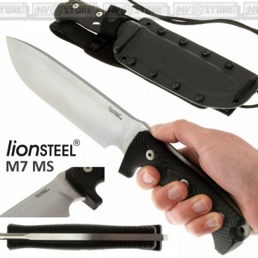 Knife Coltello LionSTEEL M7 MS Made in Italy Maniago Bushcraft Caccia Survivor