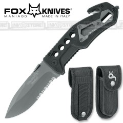 KNIFE COLTELLO FOX KNIVES BLACK FOX BF-115 PRIMO SOCCORSO EMERGENCY CACCIA PESCA
