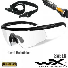 WILEY-X Saber Occhiali Balistici Protezione Balistica Lenti Balistiche Clear