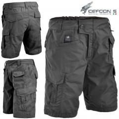 Bermuda DEFCON 5 ADVANCED TACTICAL SHORT Pants RIP-STOP Militare Softair Nero BK