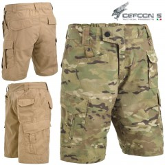 Bermuda DEFCON 5 ADVANCED TACTICAL SHORT Pants RIPSTOP Militare Softair Multcam