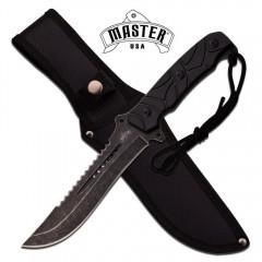 KNIFE COLTELLO DA CACCIA MASTER-1147 SURVIVOR SOPRAVVIVENZA SURVIVAL STILE RAMBO