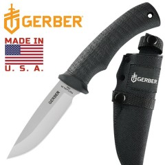 COLTELLO KNIFE GERBER GATOR FIXED MADE IN USA - PER CACCIA PESCA FODERO INCLUSO