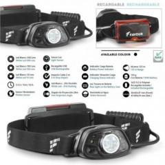 Torcia Led FAVOUR H0817 Ricaricabile Frontale Testa 300 Lum Sensore di Movimento