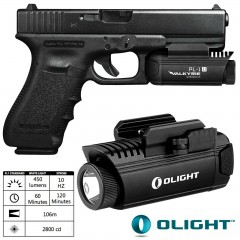 Torcia per Pistola OLIGHT PL-1 II Valkyrie 450 Lumens LED Weapon-Light Weaver