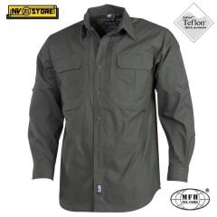 Camicia Shirt MFH Ripstop Teflon Lycra Impermeabili Caccia Outdoor Militare OD