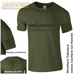 Maglia T-SHIRT Militare MARSOC Special Forces Marine Corps USMC Maglietta Uomo V