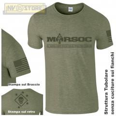 Maglia T-SHIRT Militare MARSOC Special Forces Marine Corps USMC Maglietta Uomo O