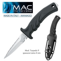 Knife Coltello SUB Torpedo 9 MAC Coltellerie MADE IN ITALY Maniago INOSSIDABILE