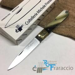 COLTELLO SFILATO SICILIANO ARTIGIANALE FRARACCIO MADE IN ITALY CACCIA F.C. 21 cm