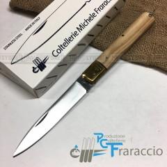 COLTELLO SICILIANO ARTIGIANALE FRARACCIO MADE IN ITALY 100% Olivo e Ottone 21 cm