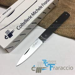 COLTELLO SICILIANO INOX ARTIGIANALE FRARACCIO MADE IN ITALY CACCIA FOLDING 15cm