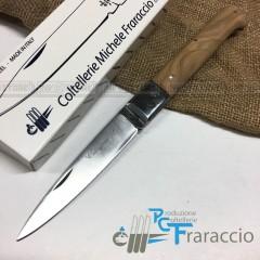 COLTELLO CALTAGIRONE ARTIGIANALE FRARACCIO MADE IN ITALY 100% Manico Olivo cm 23