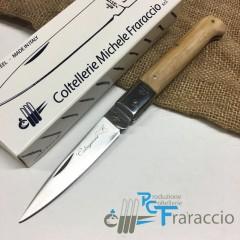 COLTELLO CALTAGIRONE ARTIGIANALE FRARACCIO MADE IN ITALY 100% Manico Olivo cm 20