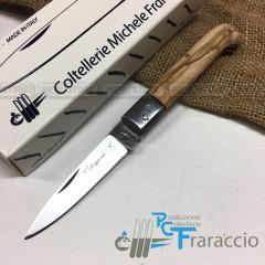 COLTELLO CALTAGIRONE ARTIGIANALE FRARACCIO MADE IN ITALY 100% Manico Olivo cm 17