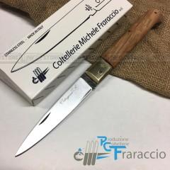 COLTELLO CALTAGIRONE ARTIGIANALE FRARACCIO MADE IN ITALY 100% CACCIA Ulivo cm 23