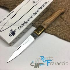 COLTELLO CALTAGIRONE ARTIGIANALE FRARACCIO MADE IN ITALY 100% CACCIA Ulivo cm 20