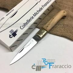 COLTELLO CALTAGIRONE ARTIGIANALE FRARACCIO MADE IN ITALY 100% CACCIA Ulivo cm 17