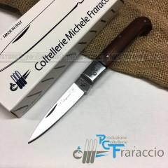 COLTELLO CALTAGIRONE ARTIGIANALE FRARACCIO MADE IN ITALY 100% Manico Ciliegio 17