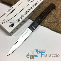 COLTELLO CALTAGIRONE ARTIGIANALE FRARACCIO MADE IN ITALY 100% Manico Wengè cm 23