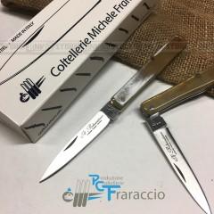 COLTELLO SFILATO PALERMO ARTIGIANALE FRARACCIO MADE IN ITALY CACCIA FOLDING 15cm