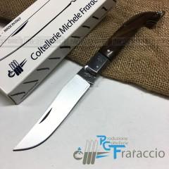 COLTELLO CACCIA ZUAVO ARTIGIANALE FRARACCIO MADE IN ITALY Legno Palissandro cm21