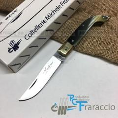 COLTELLO CACCIA ZUAVO ARTIGIANALE FRARACCIO MADE IN ITALY Manico Resina C cm 15