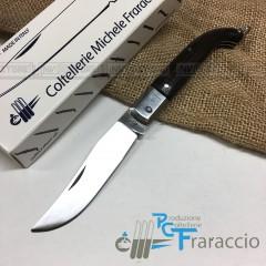 COLTELLO CACCIA ZUAVO ARTIGIANALE FRARACCIO MADE IN ITALY Legno Palissandro cm19