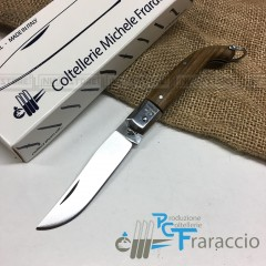 COLTELLO CACCIA ZUAVO ARTIGIANALE FRARACCIO MADE IN ITALY Legno di Guaiaco cm 17